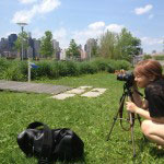behind the scene shot